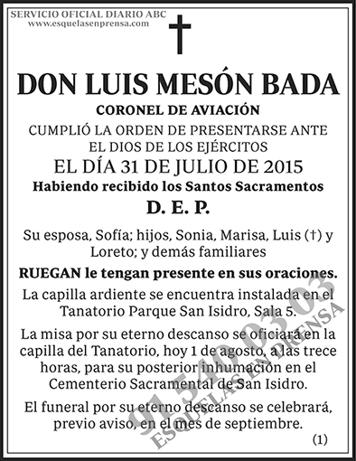Luis Mesón Bada